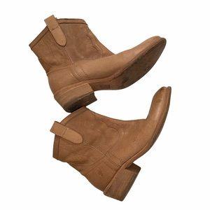 Frye Boho Women's Tan Leather Western Ankle Boots